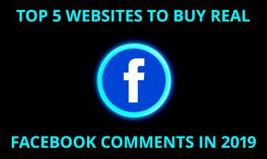 Top 5 Best Websites To Buy Real Facebook Comments in 2019